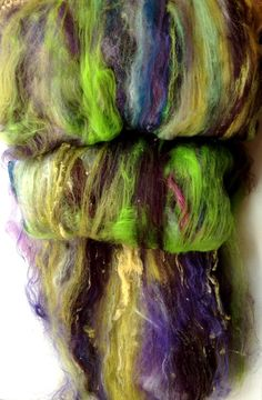 Batt spinning fiber Crazy Creative fiber batts by FiberArtemis