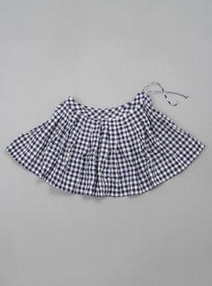 Alice Cotton Seersucker Gingham Skirt