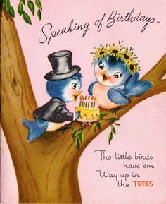Birthday Card Bluebirds