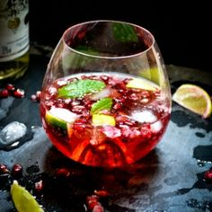 A refreshing summer cocktail, basically liquid antioxidants!