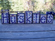 College Blocks Washington Huskies  College by KDragonflyDesigns, $40.00