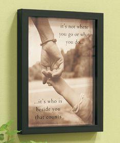 "Photographic Reflection Shadowbox ""Beside You"""