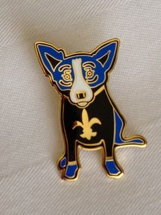 My New Orleans Saints Blue Dog Pin from the NFRW Spring 2012 Meeting in New Orleans!