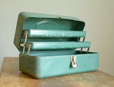 Metal Tackle Boxes - especially the green ones