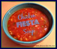 Paleo chicken fiesta soup - perfect for cold days! www.detoxifylife.com