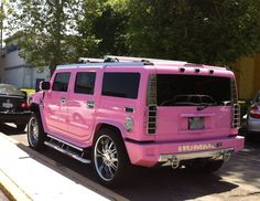 Pink Hummer H2 ☆ Girly Cars for Female Drivers! Love Pink Cars ♥ It's the dream car for every girl ALL THINGS PINK #hummer #pink!
