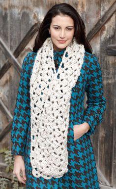 Free Crochet Pattern: Crochet Lacy Scarf