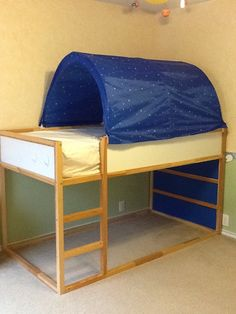 Charlie 39 s room on pinterest ikea kura murphy beds and Twin bed tent ikea