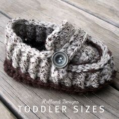 CROCHET PATTERN Modern Toddler Loafers  Pattern by hollanddesigns