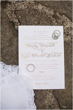 Simple Gold Foil Wed