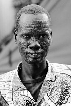 Nuer man, South Sudan
