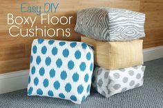 Easy-to-Make Boxy Floor Cushions