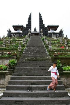 Steps to the temple, Bali, Indonesia