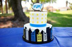 Super Hero Birthday Cake  Cake: Jana's Creative Cakes Photography: Jillian Rose Photography