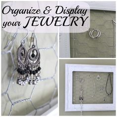 How to organize, display and store your jewelry.  Functional and looks gorgeous!