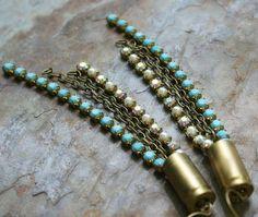 upcycled bullet shell earrings