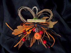 Samhain Vine Bow Wreath. Handmade Pagan Halloween Thanksgiving Decoration