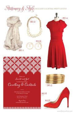 Stationery & Style: Holiday Cocktail Party Outfit