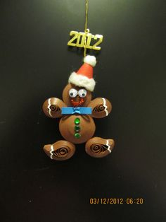 My quilled gingerbread man stuffed with same mixture as house. http://pinterest.com/taffy421/debi-s-doodles-delights/