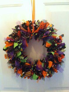 Halloween Rag Wreath Halloween Rag Ribbon by RagWreathsbyMissVal, $45.00