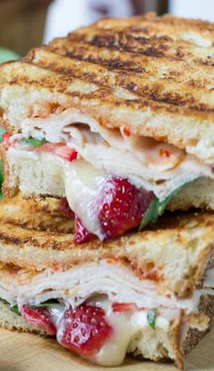 ... , Peppers Jelly, Strawberries, Perfect Blends, Brie, Turkey Paninis