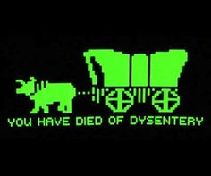 For 80s and 90s kids. #OregonTrail #Childhood ... I ALWAYS died of dysentery!!!