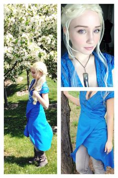 Daenerys Targaryen cosplay from the Game of Thrones.