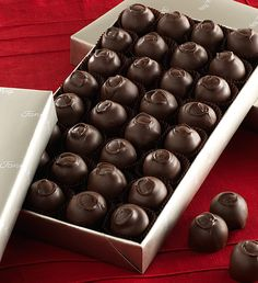 #FMChocolates Dark Chocolate Covered Cherries in platinum wrap $24.99