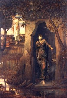 Circë and Scylla, from Greek mythology as retold by Ovid. Scylla, daughter of a river god, loved by Glaucus. Glaucus was also loved by the sorceress Circe. While Scylla was bathing in the sea, Circe poured a potion into the water which caused Scylla to transform into a monster with four eyes, six long necks equipped with grisly heads, each of which contained three rows of sharp teeth. Her body consisted of twelve tentacle-like legs and a cat's tail while four to six dog-heads ringed her waist.
