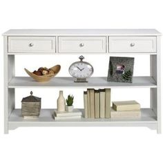 Oxford Three drawer Console Table With Open Storage