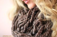 Arm Knitting Infinity Scarf Tutorial With Video #make #scarf #easy
