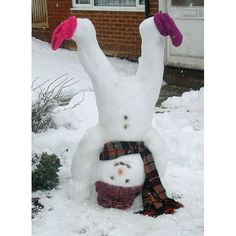 Upside Down Snowman - I so want to try this!