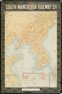 South Manchuria Railway Co. [Map of South Manchuria and Korea] :: Rare Books and Manuscripts Collection