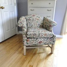 Vintage Arm Chair Curved Back Chair Needlepoint by BelatedDesigns, $220.00