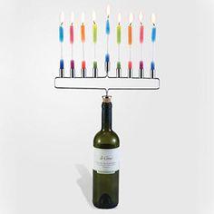 6 Hanukkah Gifts: Menorah Cork