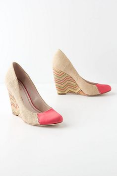 Love at first sight. Stitched Chevron Wedges - Anthropologie.com