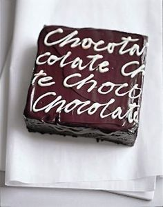 ice cake and write in chocolate on top