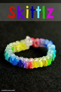 How to Make a Rainbow Loom Skittlz Bracelet