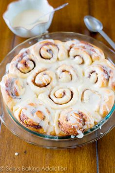 Easy Cinnamon Rolls from scratch. Fluffy, soft, and sweet. sallysbakingaddiction.com