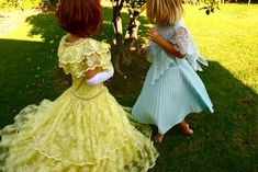 Old dresses from Goodwill turned into kids play dress up clothes.