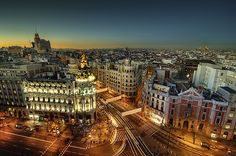 gran via. madrid.