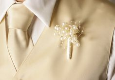 pearl cluster boutonniere