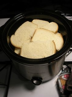 Use your crock pot to make French toast. | Use your crock pot to make French toast.