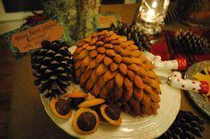 Food: Pinecone Cheeseball  {via Pamplemousse Blog}