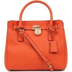 MICHAEL Michael Kors Hamilton medium leather tote ($450) ❤ liked on Polyvore
