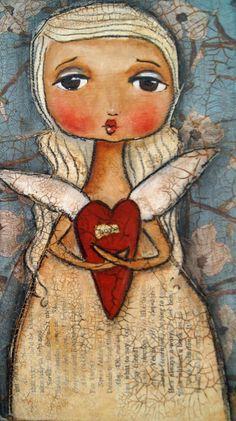 Be still my foolish heart Mixed Media  - Be still my foolish heart Fine Art Print