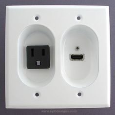 Recessed HDMI jack + outlet for wall-mounted flat screen TVs $36.95