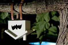 Bat house @Gwen Peebles- look! It's upside-down! How CUTE!
