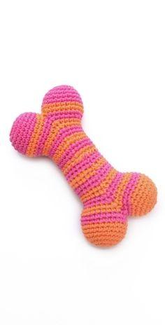 Jonathan Adler  Crochet Dog Bone Toy
