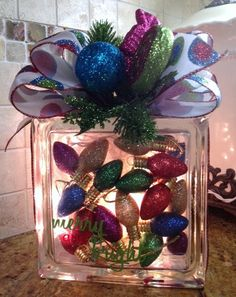 Merry & Bright Christmas Light by JansLookingGlass on Etsy, $30.00